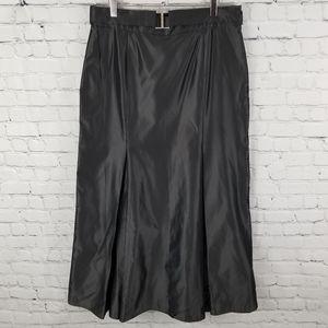 LUISA SPAGNOLI   belted pleated long skirt